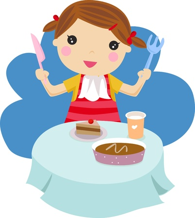 hungry kid: girl