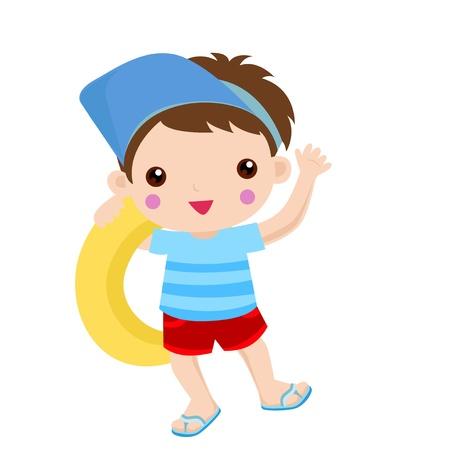 life guard: swim boy