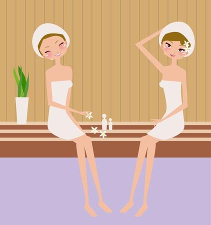 spa women  Vector