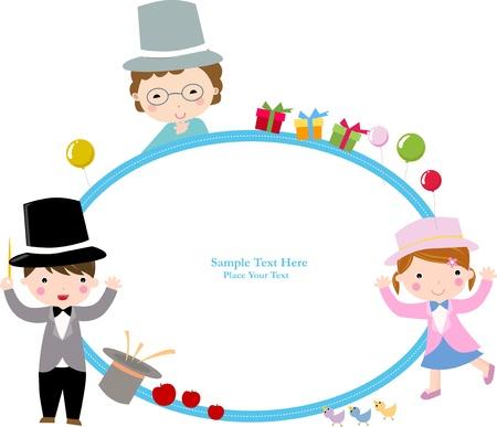 Cute cartoon kids frame Stock Vector - 8887715