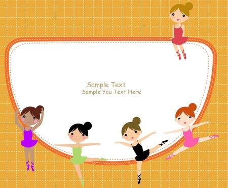 ballet dancing: Telaio e le ragazze di balletto