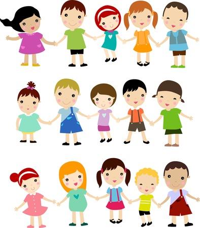 cute guy: group of happy children