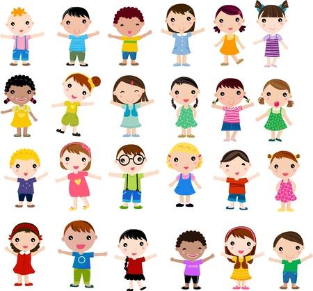 avatars: gruppo di bambini divertirsi