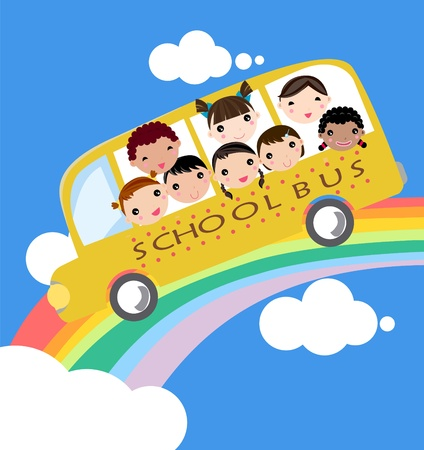 autobus escolar: autobús escolar  Vectores