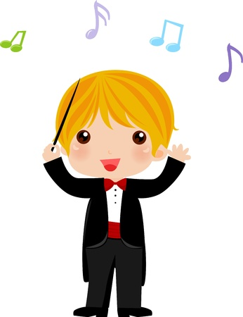 Orchestra conductor Stock Vector - 9765822