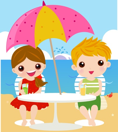 In holiday at the sea Stock Vector - 9463427