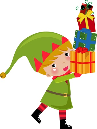 cute elf  Vector