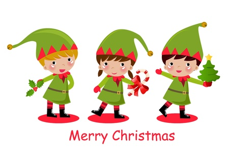 cute elf  Stock Vector - 9775397
