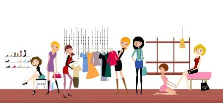 fashion art: fashion life Illustration