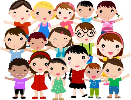 diverse group: Group of Children