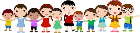 group of children Stock Vector - 10223196