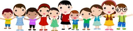niño cantando: Grupo de niños