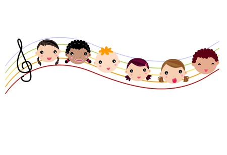 kids and music Stock Vector - 10803476