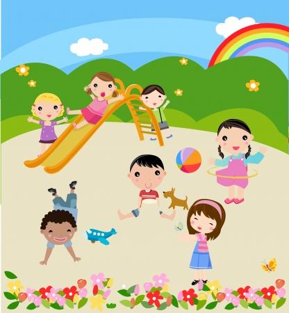 playmates: niños Vectores