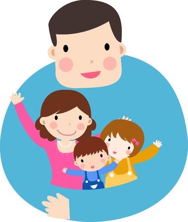 eltern und kind: Familie Illustration