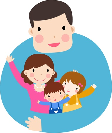 dad daughter: family Illustration