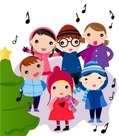 persona cantando: Cuento de Navidad