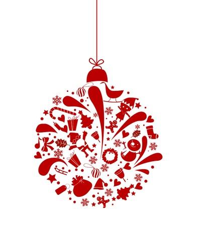 campanas navidad: bola de Navidad
