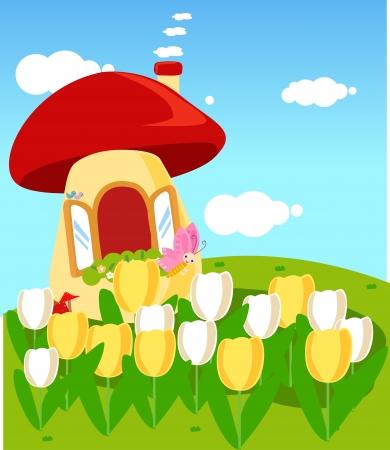 Mushroom house Stock Vector - 16721448