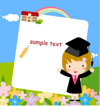 a graduate: Graduate Girl  Illustration