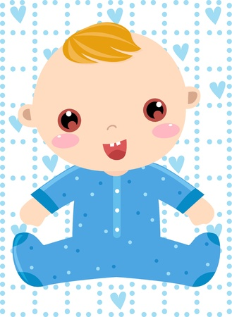 stylistic: baby boy  Illustration