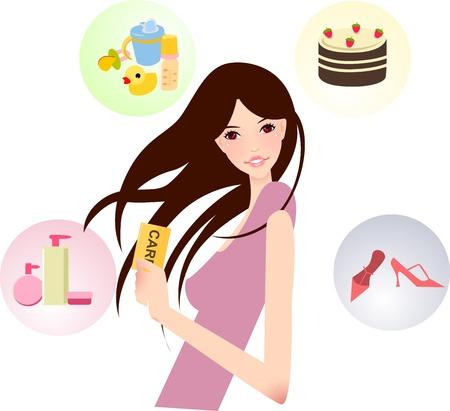 christmas cake: girl with card