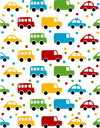 Seamless toy car and plane background for baby boy