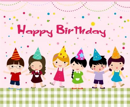 torte compleanno: Compleanno celebrazione Vettoriali