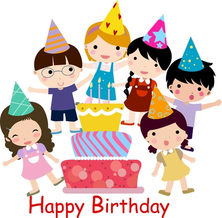 children party: Birthday celebration  Illustration