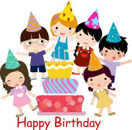 Celebración de cumpleaños Ilustración de vector