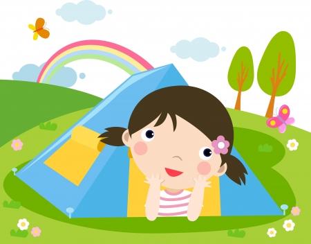 camping  Иллюстрация