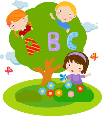 boy and girls Vector