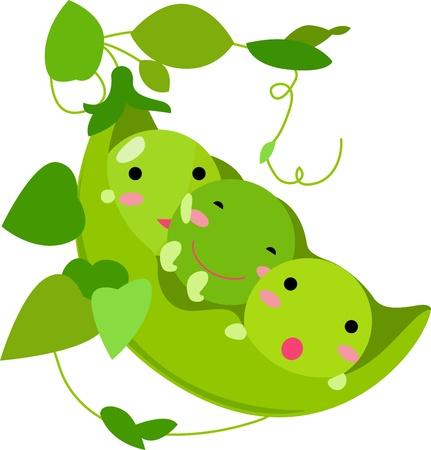 Pods of Peas Friends  Vector