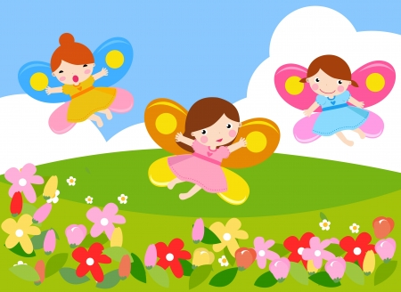 fairy girls  Vector