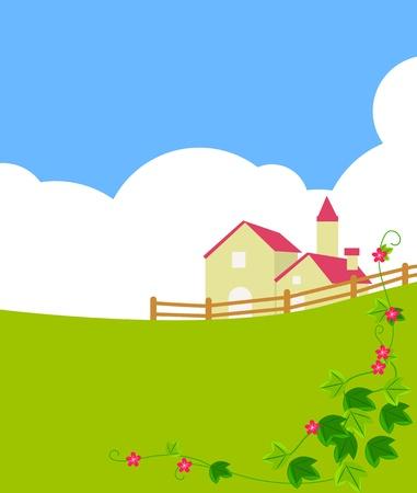 Villa on a hill  Vector