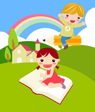 Junge und das Mädchen Illustration
