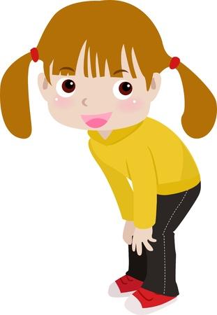 a cute little girl  Stock Vector - 12161425