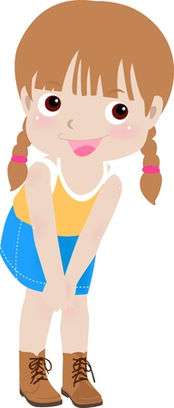 fashion doll: a cute little girl  Illustration