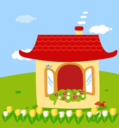 cute house Stock Vector - 12777033
