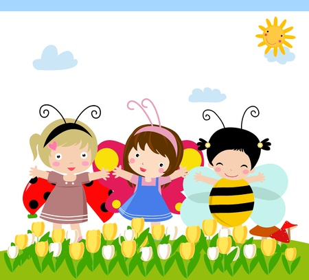 ladybug cartoon: kids