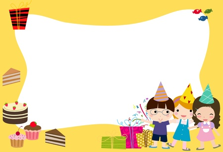 ponytails: Birthday celebration  Illustration