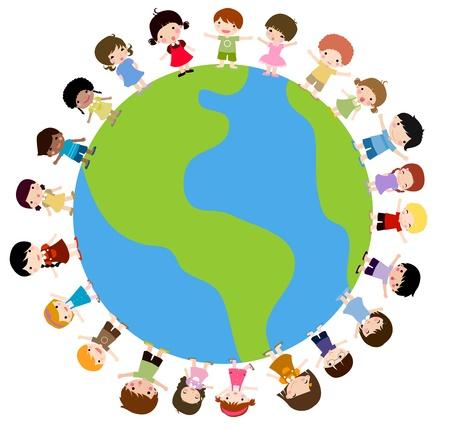 testvérek: a gyerekek és a földgömb