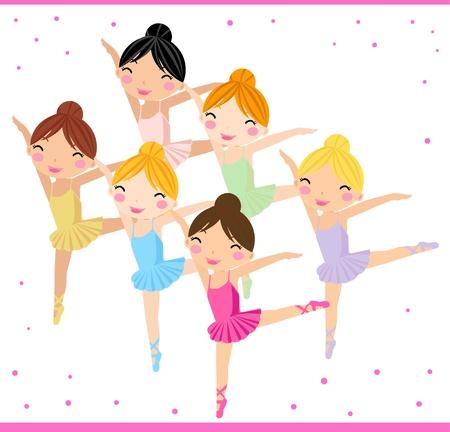 Little Ballerinas  Ilustracja