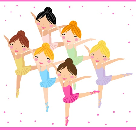 ballet slipper: Little Ballerinas  Illustration