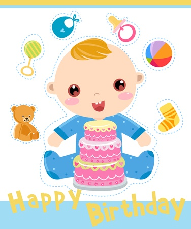 happy birthday  Stock Vector - 16262413
