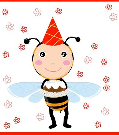 sting: birthday card Illustration