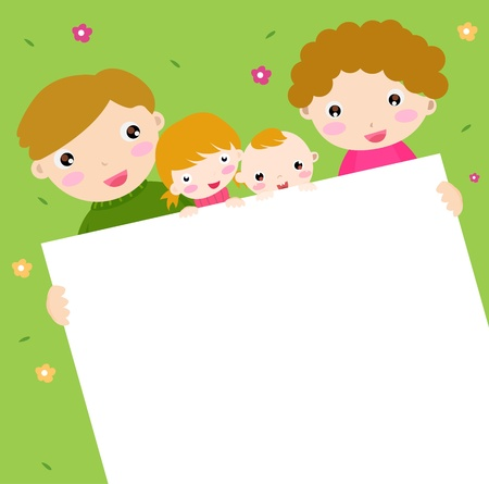 family banner  Stock Vector - 16262398