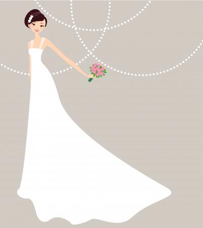 花嫁  イラスト・ベクター素材