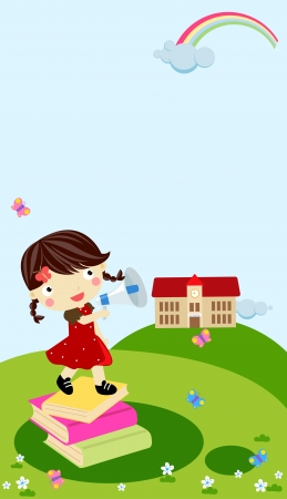 cute little girl Stock Vector - 16262509