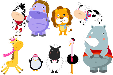 group of animals Vector